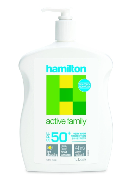 Key Pharmaceuticals HAMILSUN SUNSCREEN ACTIVE FAMILY SPF50+ LOTION 1L